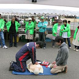 『共助で支えるへき地医療―AEDを利用した救急法の周知』