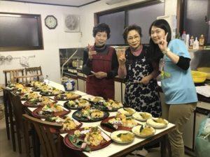 地元の方々が作ってくださった豪華な料理