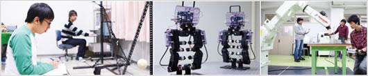 機械システム・ロボットコースの授業風景